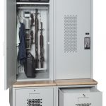 Tactical Gear Locker Bank Open and Closed