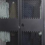 Closed TA-50 Storage Locker Lock Mechanism