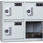 4-Compartment Compact Sidearm Locker Door Open 2