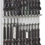 Single-Sided Expandable Weapon Rack With High-Density Weapon Storage