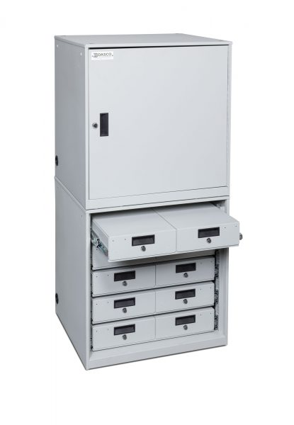 Stacked Taser Cabinet With Secure Drawers