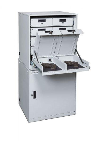 Open Stacked Taser Cabinet