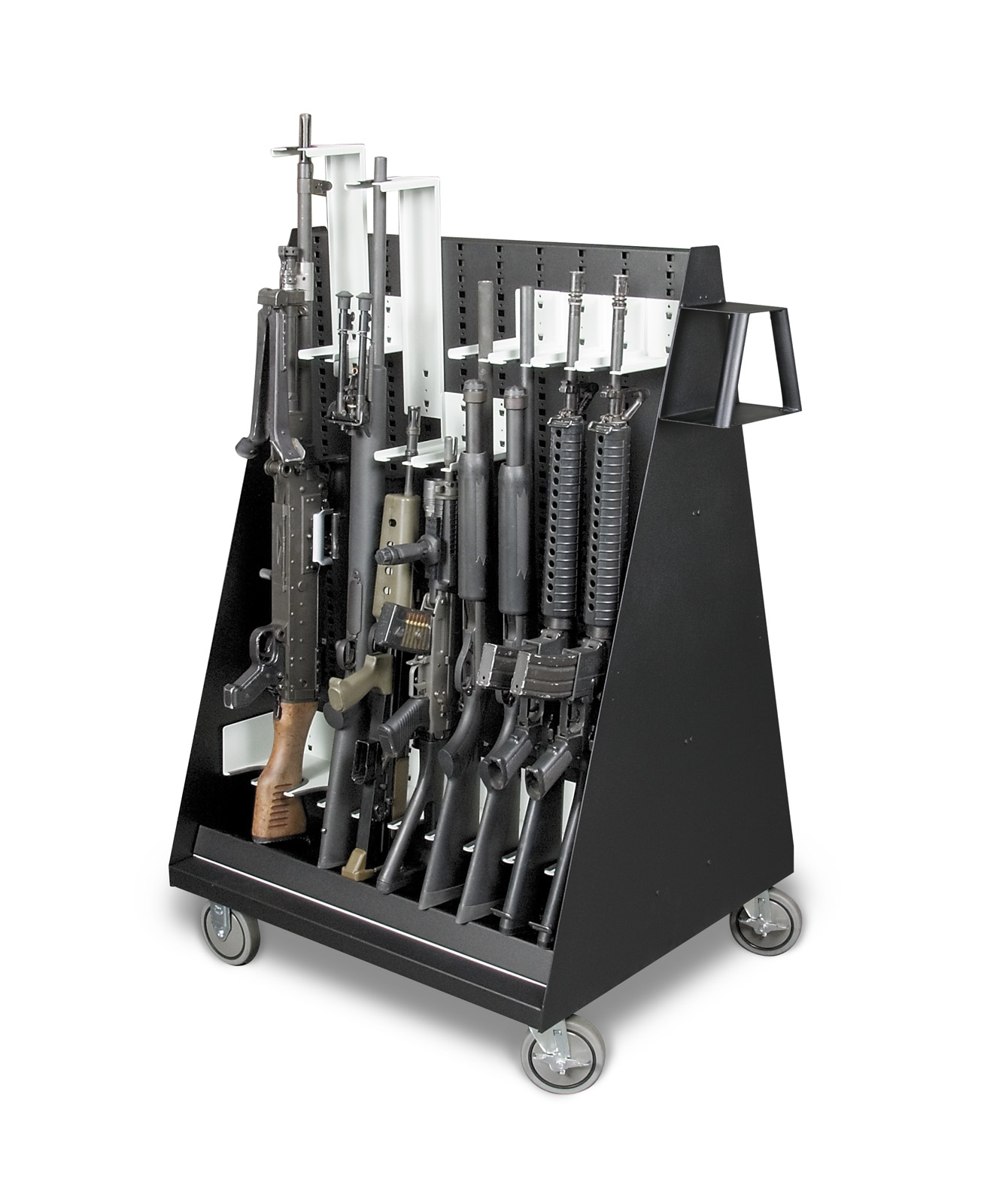 Mobile Weapon Storage Cart - Full