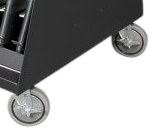 Mobile Weapon Cart Heavy-Duty Casters