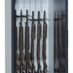 Open Small Arms Weapon Locker with Stored Firearms