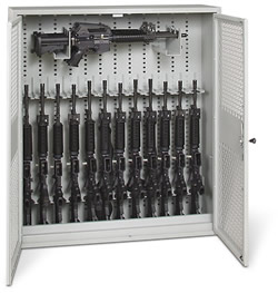 48-Inch High Open Stackable Weapon Locker