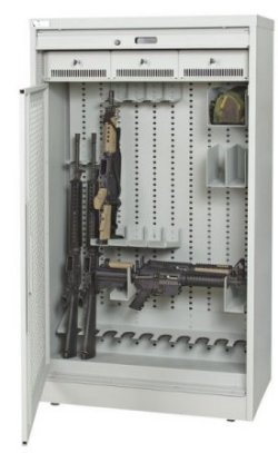 66-Inch-High-Secure-Weapon-Storage-Cabinet-Open-Security-Gate-Demo