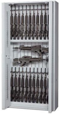 84-Inch High Open Bi-Fold Weapon Rack with Guns Stored