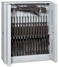 48-Inch High Bi-Fold Weapon Rack Open Doors