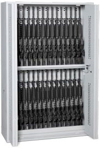 64-Inch High Bi-Fold Weapon Rack Open Doors With High-Density Storage Components