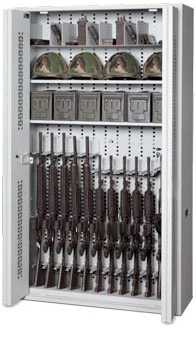72-Inch Bi-Fold Weapon Rack With Open Doors