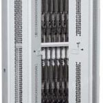 64-Inch High Bi-Fold Weapon Rack With Semi-Open Doors