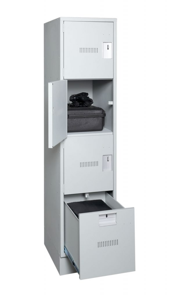 Duty Bag Locker-Door and drawer open