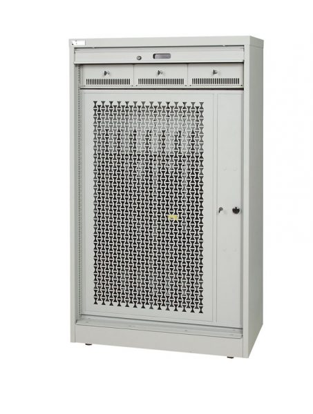 66-Inch-High-Secure-Weapon-Storage-Cabinet-Security-Gate-Closed
