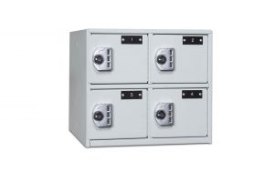 4-Compartment Secure Compact Locker Closed