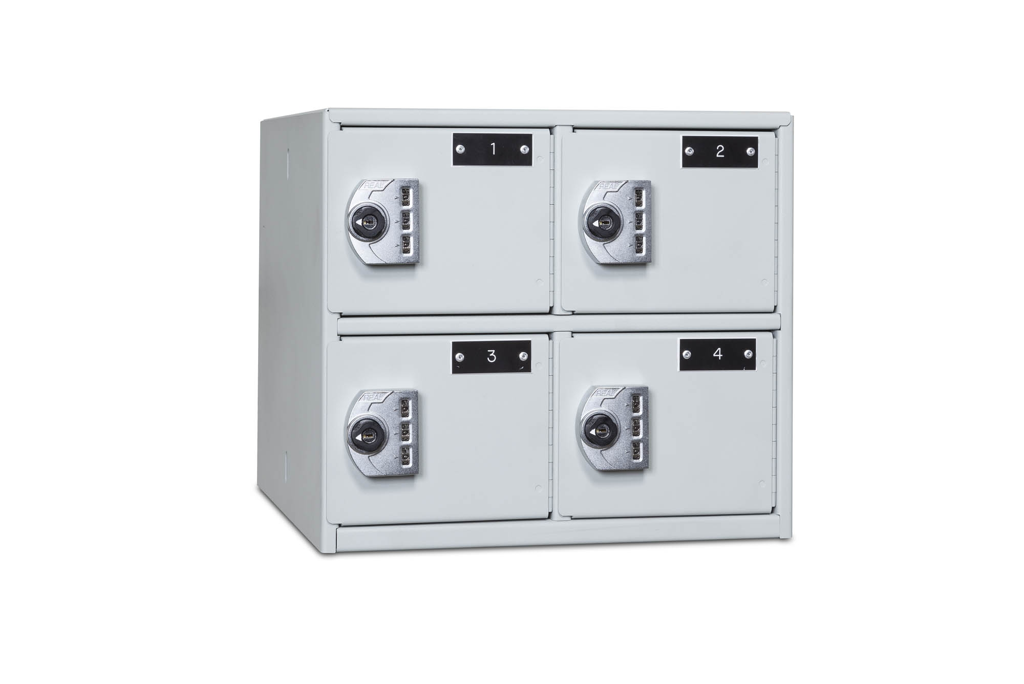 4-Compartment Compact Sidearm Locker Closed