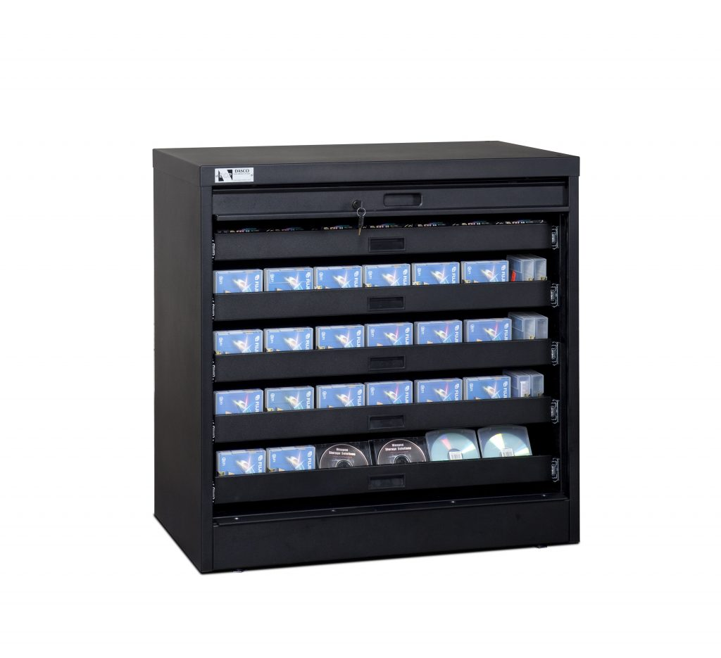 36-Inch High Secure Media Cabinet with Disc Storage