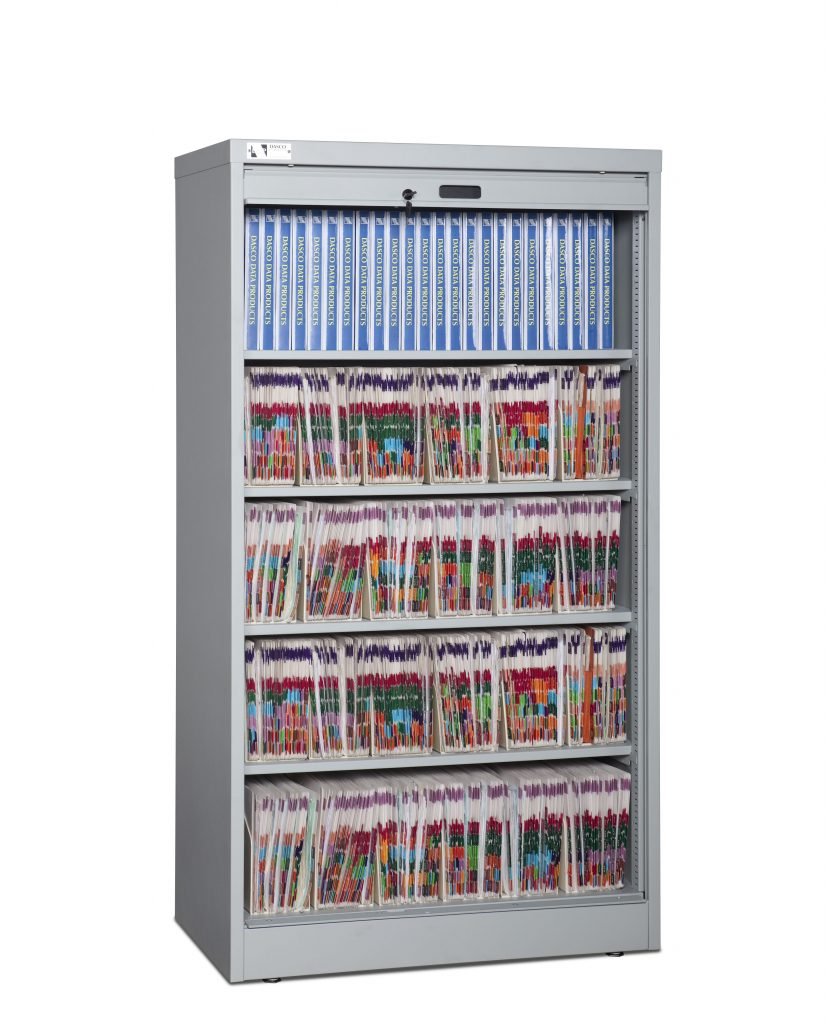 66-Inch High Secure Media Cabinet Open with File Storage