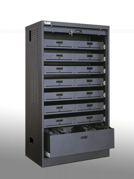 Double Wide Laptop Cabinet Bin Storage Drawer
