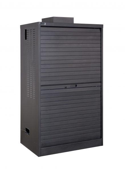 Double-Wide Laptop Cabinet Closed Tambour Door