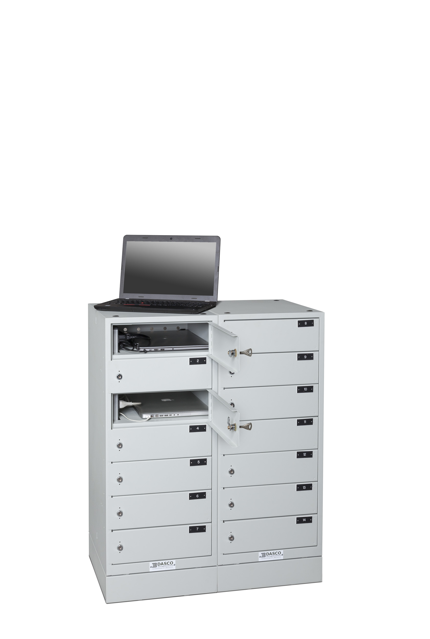 7-Compartment Laptop Tower Horizontal Bank