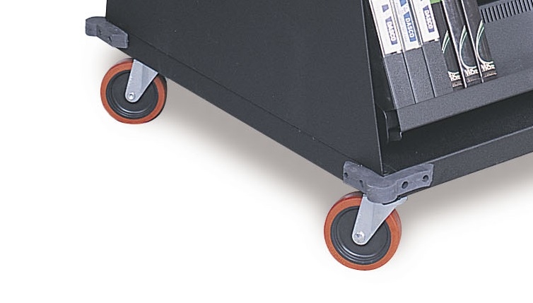 Multimedia Mobile Cart With Heavy-Duty Casters