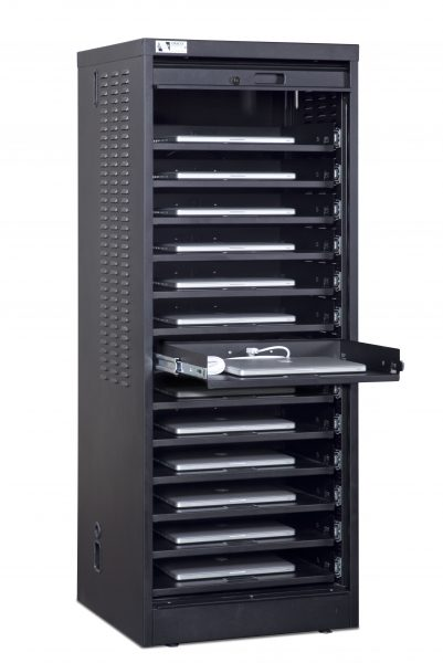 Single-Wide Laptop Cabinet 14-unit capacity Demo 2