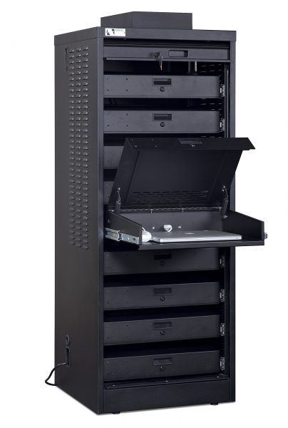Single Wide Laptop Cabinet 9-unit capacity Open Cover