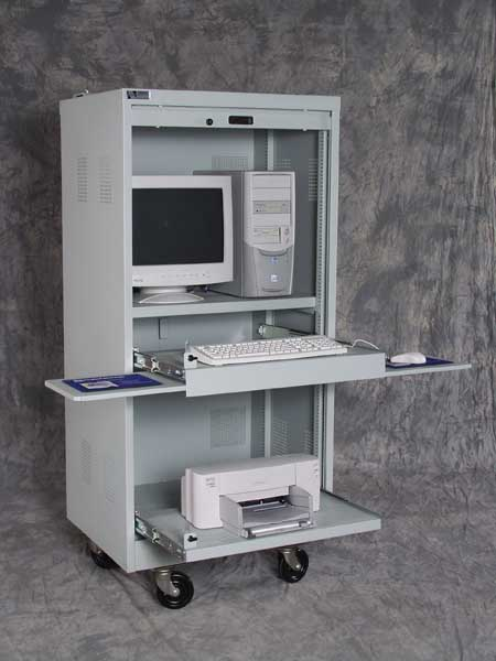 Secure Computer Cabinet Open