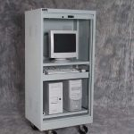 Open Secure Computer Storage Cabinet