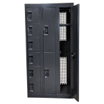 Pass-Through Evidence Storage with Open Locker Compartments