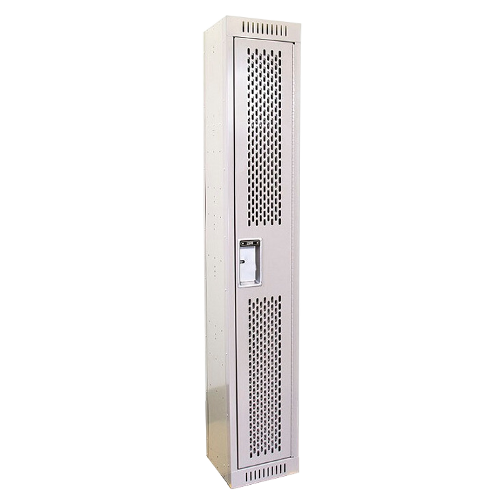 Closed Event Locker with Perforated Door - Angle View