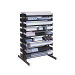 Double-Sided 54-inch tall Multimedia Storage Rack