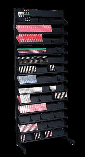 Single-Sided 84-inch tall Multimedia Storage Rack